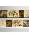 Imprimeu pânză întins Set Canava Botanic Două Panouri Imprimeu Decor de perete Pagina de decorare
