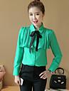 arc tricou feminin 2017 primăvară nou sifon coreean cămașă bluză cămașă mică ocupație bottom cu mâneci lungi