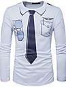 Bărbați Rotund Tricou Casul/Zilnic Elegant Șic Stradă,Geometric Manșon Lung Poliester
