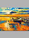 Pictat manual Abstract Peisaj Orizontal,Modern Un Panou Canava Hang-pictate pictură în ulei For Pagina de decorare