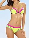 Femei Bikini Femei Cu Susținere Monocolor Nailon