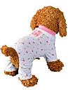 Chien Combinaison-pantalon Pyjamas Vetements pour Chien Fruit Rose Coton Costume Pour les animaux domestiques Homme Femme Mignon