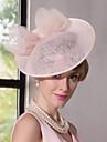 lněná krajka fascinátory klobouky čelenka klasický ženský styl