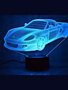 Crăciun masina atinge estompare 3D a condus lumina de noapte 7colorful decorare lampă atmosferă de iluminat noutate lumina de Crăciun