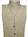 Dame Coliere cu Pandativ Imitație de Perle Perle Imitație de Perle Aliaj Șuviță unică Picătură Design Unic Stil Atârnat Multi-moduri Wear