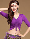 Belly Dance Tops Women\'s Training Cotton Modal Half Sleeves Top