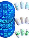 1pcs Redaktionell Verktyg och tillbehör / stämpling Plate / Nail Stamping Tool Stilig / Professionel / Hög kvalitet Nail Art Design