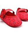 Κοριτσίστικα Παπούτσια Ύφασμα Άνοιξη Πρώτα Βήματα Χωρίς Τακούνι Φιόγκος / Γάντζος & Θηλιά για Παιδικά Μαύρο / Κόκκινο / Ροζ / Πάρτι & Βραδινή Έξοδος