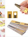 100st nail art former för akryl&uv gel tips förlänga pappersfack verktyg