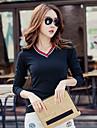 femei&# 39; s modele de sex feminin T-shirt Slim a fost subțire cu mâneci lungi v-gât tricou jacheta studenți coreeană cămașă mică