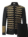 Prince Cosplay Costume Blazer Jacket & Pants Tuxedo Suits & Blazers Men\'s Rococo Medieval 18th Century Napoleon Jacket Party Prom Halloween Carnival Festival / Holiday Lace Black Carnival Costumes