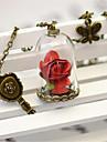 Söt Lolita Halsband Vintage-inspirerad Röd lolita tillbehör Enfärgad Halsband Metall