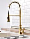 Contemporan Art Deco/Retro Modern standard Spout Inalt / ridicat Arc Pull-out / pull-down Piesă CentralăTermostatic Duș Ploaie Sprey