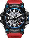 Heren Unisex Sporthorloge Modieus horloge Militair horloge Japans Digitaal Silicone Zwart / Blauw / Rood 30 m Waterbestendig Alarm Kalender Analoog-Digitaal Khaki Zwart / Blauw Zwart / Zilver Twee