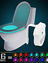 ywxlight® ip65 16 färger rörelse aktiverad toalett ljus badrum natt ljus lätt ren