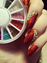 Glitters Blomma Mode Neon & Bright Hög kvalitet Dagligen Nail Art Design