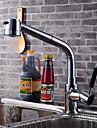 Nutida Konst Dekor / Retro Moderna standard Pip Kärl Utbredd Utdragbar dusch Roterbar Keramisk Ventil Singel Handtag Ett hål Krom ,