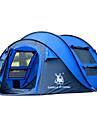 GAZELLE OUTDOORS 3-4 personnes Tente Unique Tente de camping Une piece Tente Pop Up Etanche Pare-vent Resistant aux ultraviolets Pliable