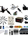 BaseKey Tattoo Machine Professional Tattoo Kit - 2 pcs Tattoo Machines LCD virtalähde Sisältää kotelon 2 x teräksinen tatuointikone viivoihin ja varjostukseen