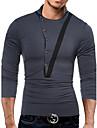 Bărbați Bijuterie Tricou Casual Activ,Mată Manșon Lung Toamnă Iarnă-Mediu 98% bumbac 2% Spendex