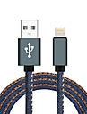 USB 2.0 Iluminare Adaptor pentru cablu USB Împletit Înaltă Viteză Cablu Pentru Macbook iPad MacBook Air iPhone MacBook Pro 100 cm