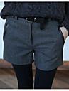 Damă Zvelt Simplu Talie Medie,Micro-elastic Pantaloni Scurți Pantaloni Solid