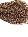 Lockiga flätor Hårflätor 35cm 40cm 45cm 51cm 56cm coily Virkade flätor Låda Flätor Senegal havana 100% Kanekalon-hår Mörkbrun Grå