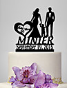 Cake Topper Garden Theme Classic Theme Rustic Theme Classic Couple Acrylic Wedding Anniversary Birthday Bridal Shower Baby Shower With OPP
