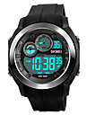 SKMEI 남성용 스포츠 시계 밀리터리 시계 손목 시계 일본어 디지털 실리콘 블랙 / 그린 50 m 방수 알람 달력 디지털 패션 - 그레이 그린 블루 2 년 배터리 수명 / 크로노그래프 / 스톱워치 / 야광 / 큰 다이얼 / Maxell626 + 2025