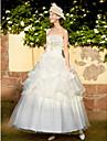 rochie de mireasa printesa fara bretele lungime de organza rochie de nunta organza cu beading de tianyu