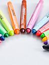 pastell Penna Kritor Penna Röd Svart Blå Gul Purpur Orange Grön bläck~~POS=TRUNC For Skolmaterial Kontorsmaterial Förpackning med 12