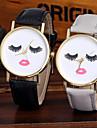 Pentru femei Quartz Ceas de Mână Chineză Cool Piele Bandă Sclipici / Casual / Modă Negru / Alb / Maro / Verde / Gri