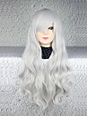 Cosplay Cosplay Mujer 30 pulgada Fibra resistente al calor Plata Anime Pelucas de Cosplay
