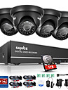 Sannc® 8ch 4pcs 720p hd camera 1080n dvr systeme de securite resistant aux intemperies simple surveillance mobile 1tb
