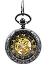 Bărbați Ceas Schelet Ceas de buzunar ceas mecanic Mecanism automat Aliaj Bandă Negru