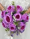 "Flori de Nuntă Rotund Trandafiri Buchete Nuntă Satin 9.84""(Approx.25cm)"
