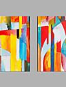 Pictat manual Oameni Orizontal,Modern Două Panouri Canava Hang-pictate pictură în ulei For Pagina de decorare
