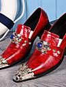 Bărbați Pantofi Nappa Leather Primăvară Vară Toamnă Iarnă Pantofi formale Oxfords Pentru Casual Party & Seară Rosu