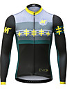 Mysenlan Homme Manches Longues Maillot de Cyclisme Velo Maillot, Sechage rapide, Respirable Polyester