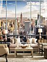 αστικές ψηλά παράθυρα έθιμο 3d μεγάλες τοίχους επικαλύψεις τοιχογραφίες ταιριάζουν εστιατόριο υπνοδωμάτιο γραφείο πόλη