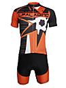 ILPALADINO Herr Kortärmad Cykeltröja med shorts - Svart Dödskalle Cykel Klädesset, 3D Tablett, Snabb tork, UV-Resistent, Reflexremsa,