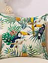 1 pcs Coton/Lin Housse de coussin Taie d\'oreiller,Animaux Nouveaute ImprimeRetro Decontracte Neoclassique Europeen Tropical