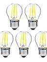 4W E27 Bec Filet LED G45 4 COB 300 lm Alb Cald Alb 2700-3500   6000-6500 K Intensitate Luminoasă Reglabilă V