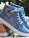 Damă Pantofi Flați Pânză Primăvară Negru Bleumarin Albastru Plat