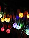 Ljusslingor 20 lysdioder Varmvit Multifärg Batteri
