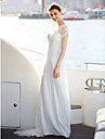 Linia -A Iluzii Lungime Podea Dantelă / Tulle Made-To-Measure rochii de mireasa cu Drapat / Dantelă de LAN TING BRIDE® / Iluzie