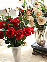 5 Piese 5 ramură Mătase Trandafiri Față de masă flori Flori artificiale