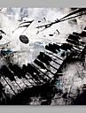 Peint a la main Abstrait Contemporain Abstrait Decoration artistique/Retro Un Panneau Toile Imprime For Decoration d\'interieur