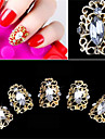 5 st elegant stil ihålig diamant falsk spik patch 3d spik dekoration