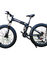 Snöcykel Hopfällbar Cykel Cykelsport 21 Hastighet 26 tum/700CC 40 mm SHIMANO 51-7 Dubbel skivbroms Springergaffel Bakhjulsupphängning